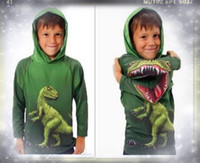 Boy Spring / Autumn Hooded 2013 new design Green dinosaur hoodie for kids baby boy girl cuest clothing cheap baby cloth for sale cool baby stuff discount baby clothing