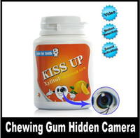 Wholesale kiss up Gum Container Style Motion Detecting HD Spy Camera freeship dropship