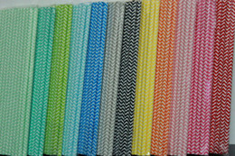 Wholesale New Arrival colors Mixed Chevron patterns Striped Polka Dot Stars Drinking Paper Straw Colorful paper straws for party favor