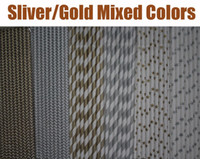 Wholesale Paper Straws for party Mixed Silver Gold colors Stripe Chevron patterns and Stars