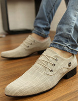 Wholesale Stylish Ecru White Lace Up Canvas Casual Shoes For Men u8 jVI