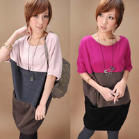 Wholesale 2013 maternity clothing fashion Korean dress pregnant women loose dress female size T shirt sweater dress