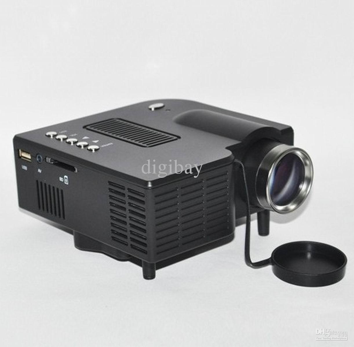 Pocket led projector home cinema theater av usb sd input for Best pocket size projector