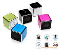 support MP4 - Mini Speaker Cube JH MD07 Music Angel brand Portable Support TF Card FM Suit For Iphone MP3 MP4 Mobiles free dropshipping