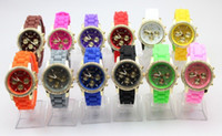 Wholesale 2013 new style Michael silicone jelly watch Geneva diamond dial color men of women