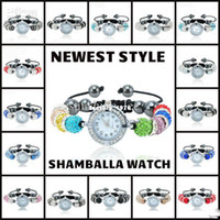 Beaded, Strands bead bracelet stretch - 50PCS DHL Freely Watch Shamballa Bracelet Multicolor Disco Ball Crystal Basketball Wives Beads Stretch Bracelet