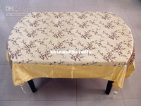 table covers - Yellow Rectangular Damask Tablecloths Table Cover Vintage Wedding Table Cloth Holiday Decorative Tablecloth size L x W m Free