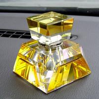 10 air freshener crystals - 10ml Modern Colorful Crystal Perfume Bottle for Cars Essential Oil Vials Air Freshener QC032