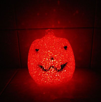Wholesale LED Colorful pumpkin Night Light flash shape Halloween Xmas gift include battery