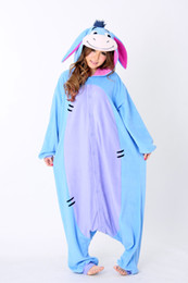 Wholesale 1 Pyjamas Animals Eeyore Donkey Polar Fleece Kigurumi Cosplay Costume Pajamas Unisex Adult Sleepwear