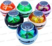 Wholesale New PowerBall Gyroscope LED Wrist Strengthener Ball SPEED METER Power Grip Ball Power Ball LLY320