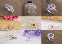 Wholesale Factory Price Silver Plated Women s Exquisite Jewelry Austria Crystal Rings P1
