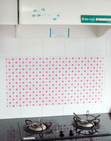 Wholesale OIL STICK WALL PAPER PET STICKERS KITCHEN STICK PREVENT LAMP BLACK WALL STICKS HIGH TEMPURATURE RESISTANT