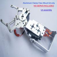 al por mayor fijado para arduino-F03992 1 set 2 kit DOF Aluminio Robot Arm Clamp Garra Monte ( No servo ) Fit Un- montaje para Arduino + Free