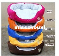 Wholesale Fedex fast shipping New pet product cat dog lambs wool soft kennel pet house warm sponge bed cushion basket small nest