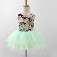 Wholesale hot sale top quality Children girl s summer sleeveless Floral TUTU dress colors