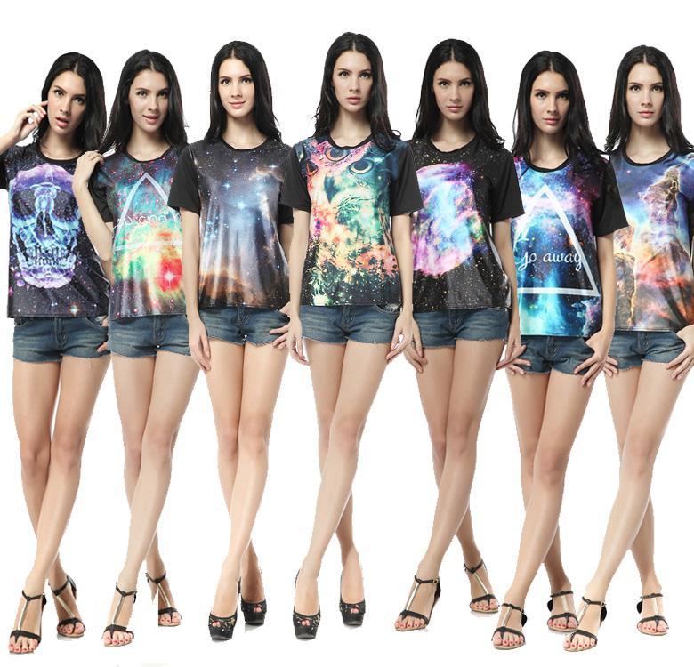 NWT Womens Skull Clothing Fashion Aminal Printed T Shirt Creative 2014