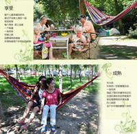 Cotten 200*80cm  Camping Hammock Swing thick cotton canvas hammock outdoor indoor leisure hammock