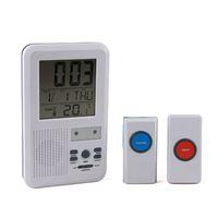 Wholesale 100 Brand New LED indicator m melody Mutifunction wireless Doorbell Alarm w Clock amp indoor Temperature Freeshipping