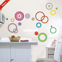 other other other Free Shipping:1 Set=5.99USD colorful Circles DIY Wall Art Home Decoration 3D Removable Wall Sticker 2120 ZooYoo Factory