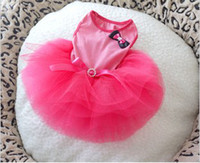 Wholesale 2013 Newest summer pet clothes dog princess dress cotton clothing layers of yarn XS L cw57