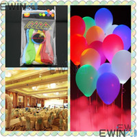 Wholesale New Flashing Glowing Light Up Fixed LED Balloons Toys Cheap for party bag filler Wedding Lasts for hours