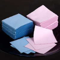 Wholesale 2013 Silver Polishing Cloths Suede Jewellery Cleaner Microfiber Not drop wool Double Side Anti tarnish Piece