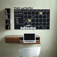 Wholesale Diy Monthly chalkboard calendar Vinyl Wall Decal Removable Planner mural wallpaper vinyl Wall Stickers CM