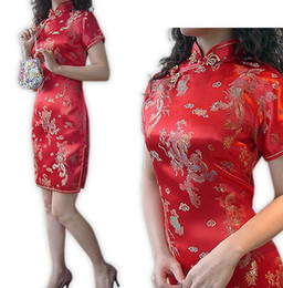 Wholesale Traditional chinese ethnic clothing cheong sam sexy cheongsam Chinese cheongsam fashion satin dress sexy cheongsams
