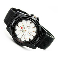 Wholesale 200PCS Men s Swiss Military Military Army Pilot Fabric Strap Sports Men Watch Quartz Wrist watch