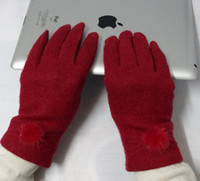 Wholesale Wool balltop New Touch Screen Gloves Winter ipad Gloves With balltop For Capacitive Screen