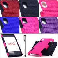 Wholesale LG Optimus Extreme L40G Straight Talk Apex Perforated Hard Cover Case Stylus