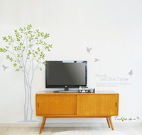 Wholesale Removable Large The Olive Tree Wall Stickers Birds And The Tree Wall Decals Living Room Wall Decor Wall Art
