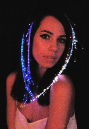 Wholesale Colorful Fiber Optic LED Lights Hair LED Braid Hair Decoration for Halloween Christmas Party Holiday