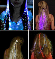 Wholesale Led Hair Flash Braid Hair Decoration Fiber Luminous Braid for Halloween Christmas Party Holiday Colorful