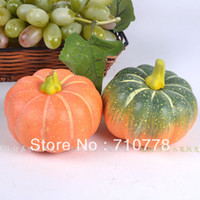 Wholesale 10pcs real touch pumpkins artificial vegetables fake fruit photography props small pumpkin fake food