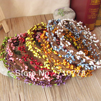 Wedding   500pcs wholesale length 40cm Artificial flower beads handmade diy wedding garland decoration accessories