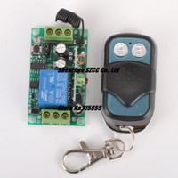 Wholesale DC V A CH Learning Code RF wireless remote control switch system transmitter and receiver MHZ MHZ