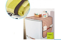 Wholesale REFRIGERATOR COVER DUSTPROOF NONWOVEN COVER MULTI PURPOSE FRIDGE COVER FREEZER COVER STORAGE BAG SHELVES HANG THE BAG DURAL USE