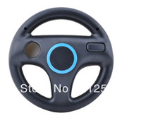 Wholesale New Black Steering Wheel for Wii Mario Kart Racing Game Remote Controller Colors for Chosen