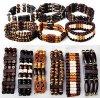 Wholesale 40 OFF Bracelets Jewelry Mix Wood Beads Bracelets Fashion Bracelet Jewelry Adjustable B413M