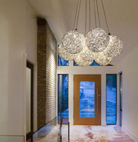 Modern aluminium ceiling pendant - Ceiling Pendant Lamp Light Decorative Patterns Aluminium Crystal Lamp Study Room Light Master Light