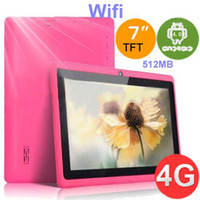 Wholesale 7 inch q88 Q8 A13 tablet pc Andriod MB GB Capacitive Touch Screen GHZ Better Hot