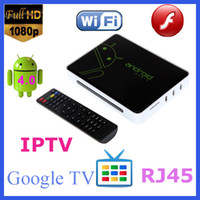 Wholesale Google Android Cortex A9 HDMI HD P Wifi Internet Mini Smart TV Set Top Box Media Player