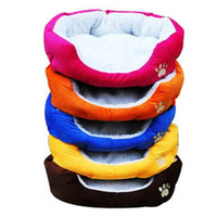 Wholesale 2013 HOT Colorful Pet Cat and Dog bed amp Pink Orange Blue Yellow Brown Gray Green SIZE M L