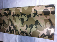 Wholesale Desert sand style Camo film m Camouflage vinyl Desert sand style Camo film car Wrapping with air free bubble thickness mm