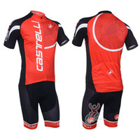 Wholesale Red Castelli Bike Team Cycling Jerseys BIB Shorts Quick Dry Breathable Cycling Clothing Bike Jerseys Pants