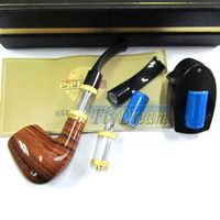 Wholesale E Pipe Somking Retro Electronic Cigarette PIPE WithTwo Battery Atomizer E AGO Kits Flydream