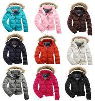fur hooded jackets - New Women s AE Coat Jacket Winter parka Fur Hooded Down Hoodies Outerwear HOODED PUFFER Coat Jacket