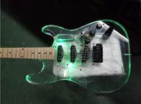 Wholesale NEW BRAND CUSTOM ELECTRIC GUITAR WITH THREE DIFFENT LIGHTS WITH ACRYLIC BODY